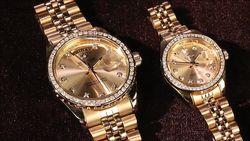 Đồng hồ cặp cao cấp SWISS GUARD Mạ vàng 24K (giảm 500k + 2 kính mát nam nữ)