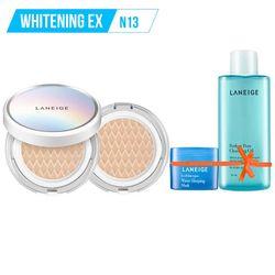 Tặng thêm Gương THỜI TRANG LANEIGE_Kem phấn nền dưỡng trắng kèm lõi thay thế Bb Cushion Whitening Ex N13 15G*2 (Neutral - màu trung tính)