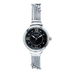Đồng hồ nữ kim màu đen số la mã Julius JA-834