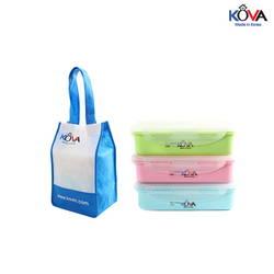 Set lunch box Kova Colorful Life 600ml (B,P,G)LB600-1 ( màu ngẫu nhiên )