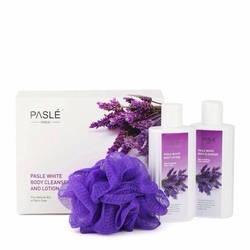 Bộ sữa tắm và dưỡng thể trắng da oải hương Pasle White Body Cleanser And Lotion