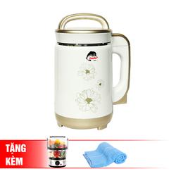 [Iruka Japan] Máy làm sữa đậu nành I60 + Máy hấp điện 2 tầng Magic Korea A64 + 2 khăn tắm (live)
