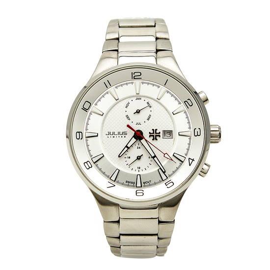 Đồng hồ nam màu trắng Julius JAL-013