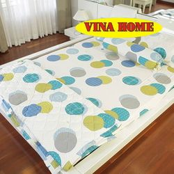 Nệm cao su nhân tạo Vina Home (1m6*2m*14cm) + 3 gối + 1 bộ drap không mền