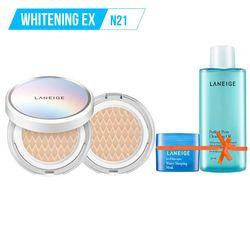 Tặng thêm Gương THỜI TRANG LANEIGE_Kem phấn nền dưỡng trắng kèm lõi thay thế Bb Cushion Whitening Ex N21 15G*2 (Neutral - màu trung tính)