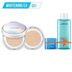 Tặng thêm Gương THỜI TRANG LANEIGE_Kem phấn nền dưỡng trắng kèm lõi thay thế Bb Cushion Whitening Ex C21 15G*2 (Cool - màu lạnh)
