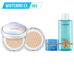 Tặng thêm Gương THỜI TRANG LANEIGE_Kem phấn nền dưỡng trắng kèm lõi thay thế Bb Cushion Whitening Ex N23 15G*2 (Neutral - màu trung tính)