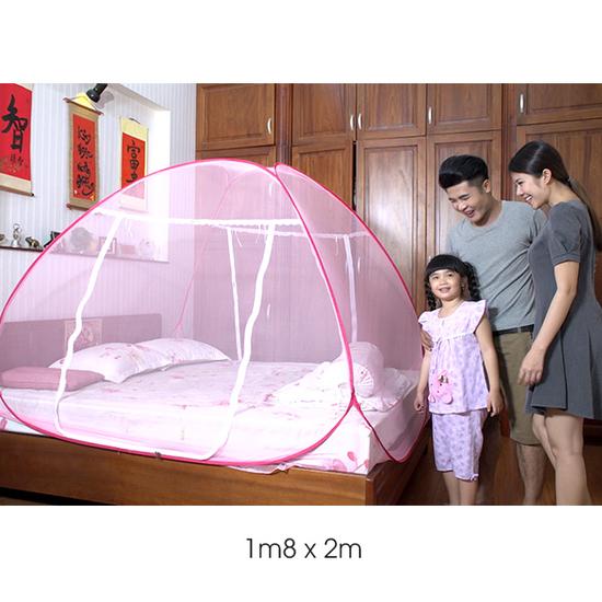 Bảo Lộc - ComBo 2 Mùng Tự Bung Cao Cấp 1m8x2m Tặng 1 bộ drap không chăn (ngẫu nhiên)