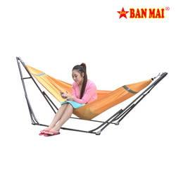 GW-Bộ võng xếp Ban Mai + 1 cây lau nhà Tặng võng dù