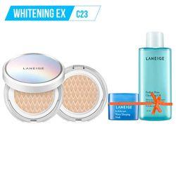 Tặng thêm Gương THỜI TRANG LANEIGE_Kem phấn nền dưỡng trắng kèm lõi thay thế Bb Cushion Whitening Ex C23 15G*2 (Cool - màu lạnh)