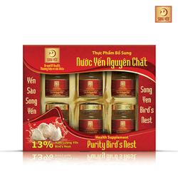 10 hộp Nước yến nguyên chất Song Yến + 06 lon ngũ diệp sâm + 5 cháo yến thịt bằm