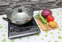 [SUNHOUSE-MB] Combo bếp điện từ(kèm nồi lẩu)+nồi cơm 1.8L+chảo từ 22cm+bàn ủi Sunhouse+Bộ 3 nồi 114
