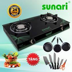[SUNARI] Bếp gas hồng ngoại Sunari + bộ 3 chảo + bộ dao 6 món