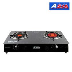 Bếp gas hồng ngoại 2 vòng nhiệt  Asia (6900) + Bộ nồi chảo ceramic ĐÁY TỪ (L)