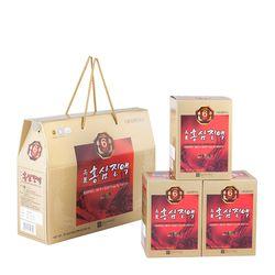 02 hộp (60 gói) Hồng sâm nước 6 năm tuổi Ginseng House + 2 kẹo sâm + 1 lọ mật ong_58p