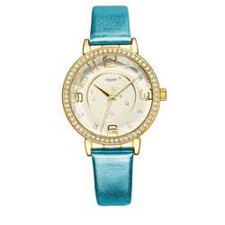 Đồng hồ nữ mặt tròn gợn sóng viền đá màu trắng Julius JA-820