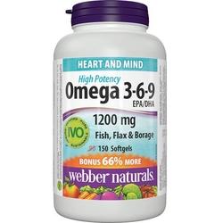 Webber _01 hộp (150v/chai) viên nang mềm Omega 369+1 hộp (120 viên)Vitamin chiết xuất trái Blueberry