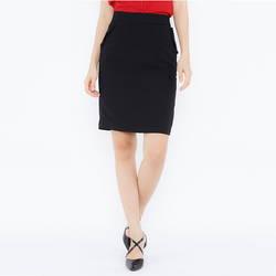 Chân váy đen ôm đính nút ở túi Leena 3VN02-Đ