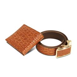 Combo 2 bóp & 2 dây nịt da thật(dập vân cá sấu) LAKA