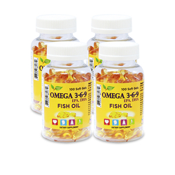 Nature Gift_Bộ 4 hộp (3+1) Omega 369 (100v/hộp) + 90 viên ĐTHT Wellness Nutrition( 3 well 30)