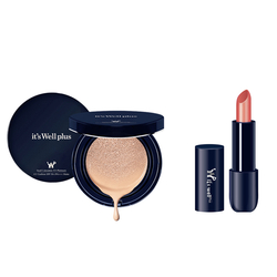 Phấn nước trang điểm It's Well Plus Platinum CC Cushion 15g+Son Lì Matte Huge Glamor