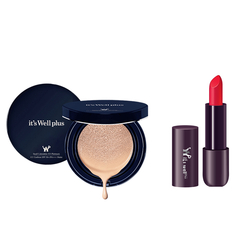 Phấn nước trang điểm It's Well Plus Platinum CC Cushion 15g+Son Lì Semi Matte Witch Dance